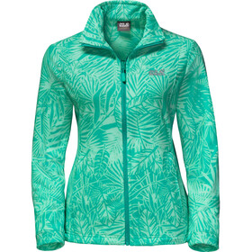 Jack Wolfskin Kiruna Jungle Jacket Women deep mint all over